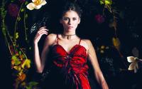 Шикарная дама в красном платье