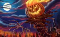 Демон с горящей тыквой вместо головы