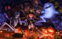 Монстры и демоны на  хэллоуин