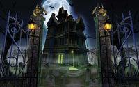 Мрачный замок в полнолуние