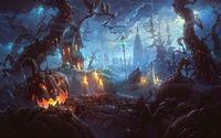 Злобный лес с тыквами