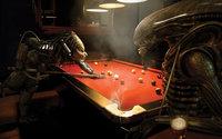 Чужой и хищник играют в бильярд