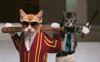 Коты в костюмах  с битами