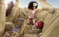 Игры в салоне авто сделанного из песка