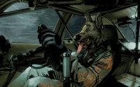 Собака за рулем гоночного авто