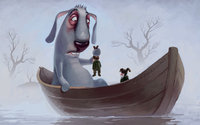 Заяц в лодке спасает Дедов Мазаев