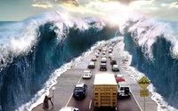 Современный Моисей раздвинул море для машин