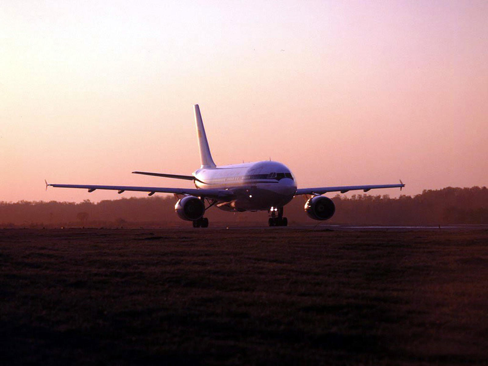 Пассажирский A-310 на посадке