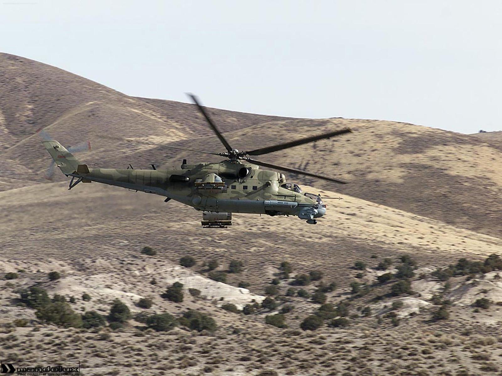 Боевой вертолет Ми-24 в Афганистане