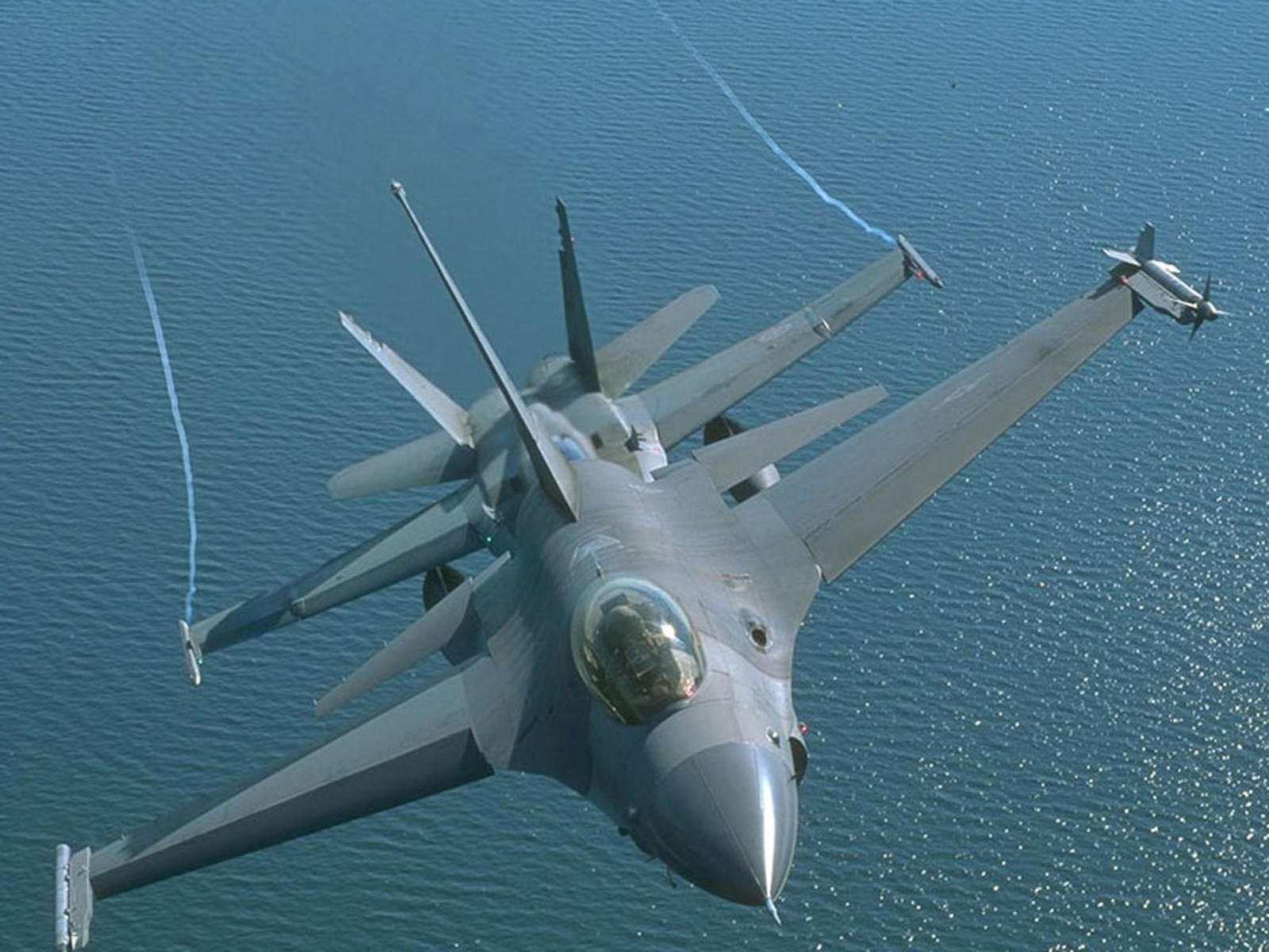 Обои Самолёт, F16. Авиация foto 12
