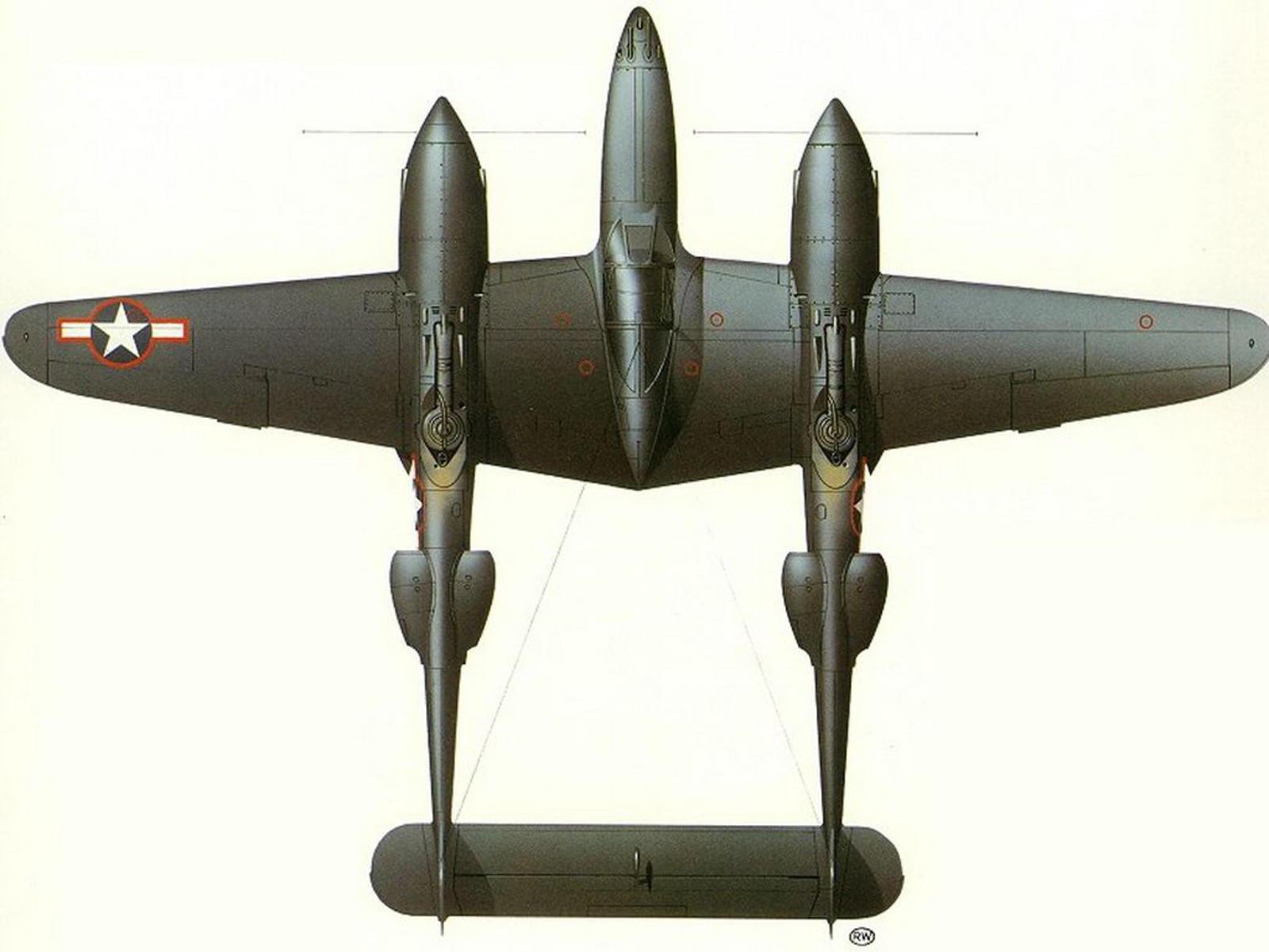 Модель военного самолёта для американской авиации