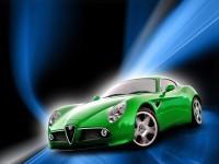 Изящная машина Альфа Ромео на картинке. Обои с автомобилями Alfa Romeo