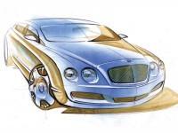 Автомобиль Бентли на отличной фотообои. Обои с автомобилями Bentley
