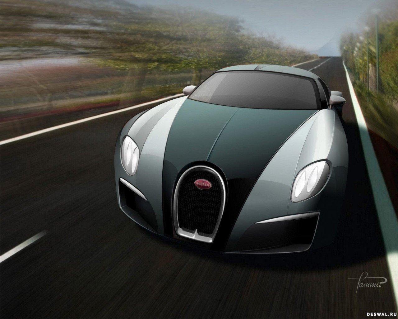 Изображение Bugatti на замечательной фотообои, Нажмите на картинку с обоями автомобиля bugatti, чтобы просмотреть ее в реальном размере