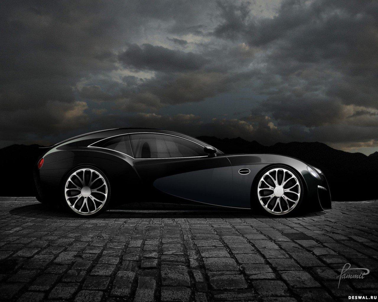 Машина Бугатти на классной фотографии, Нажмите на картинку с обоями автомобиля bugatti, чтобы просмотреть ее в реальном размере