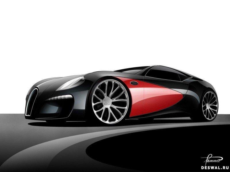 Автомашина Bugatti на замечательной картинке, Нажмите на картинку с обоями автомобиля bugatti, чтобы просмотреть ее в реальном размере