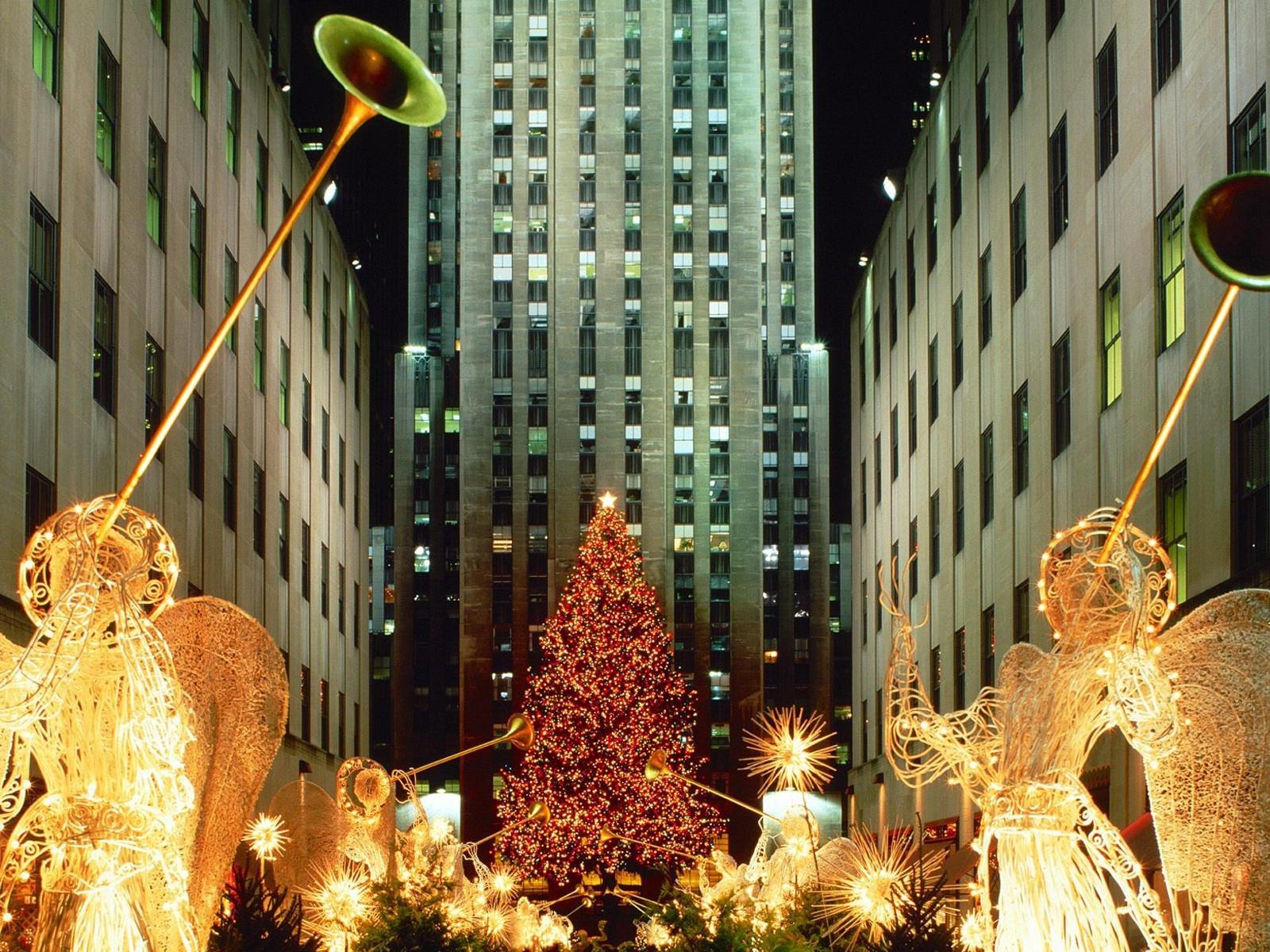 Новогодний Нью Йорк Обои