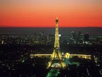 Вид Парижа с Эйфелевой башней