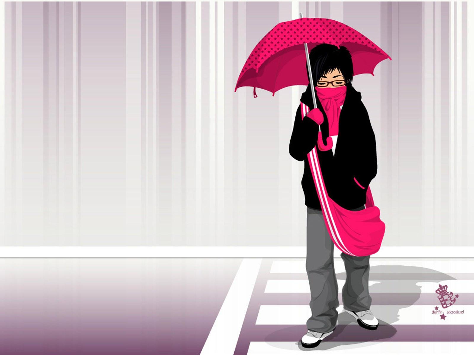Под красным зонтиком