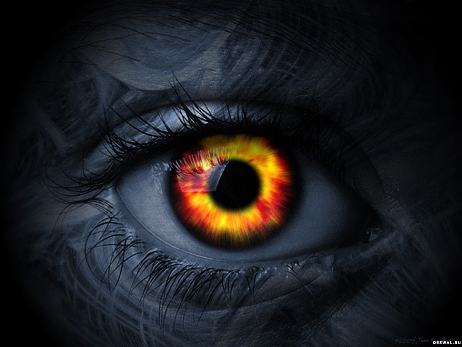 Как на фотошопе сделать яркие глаза