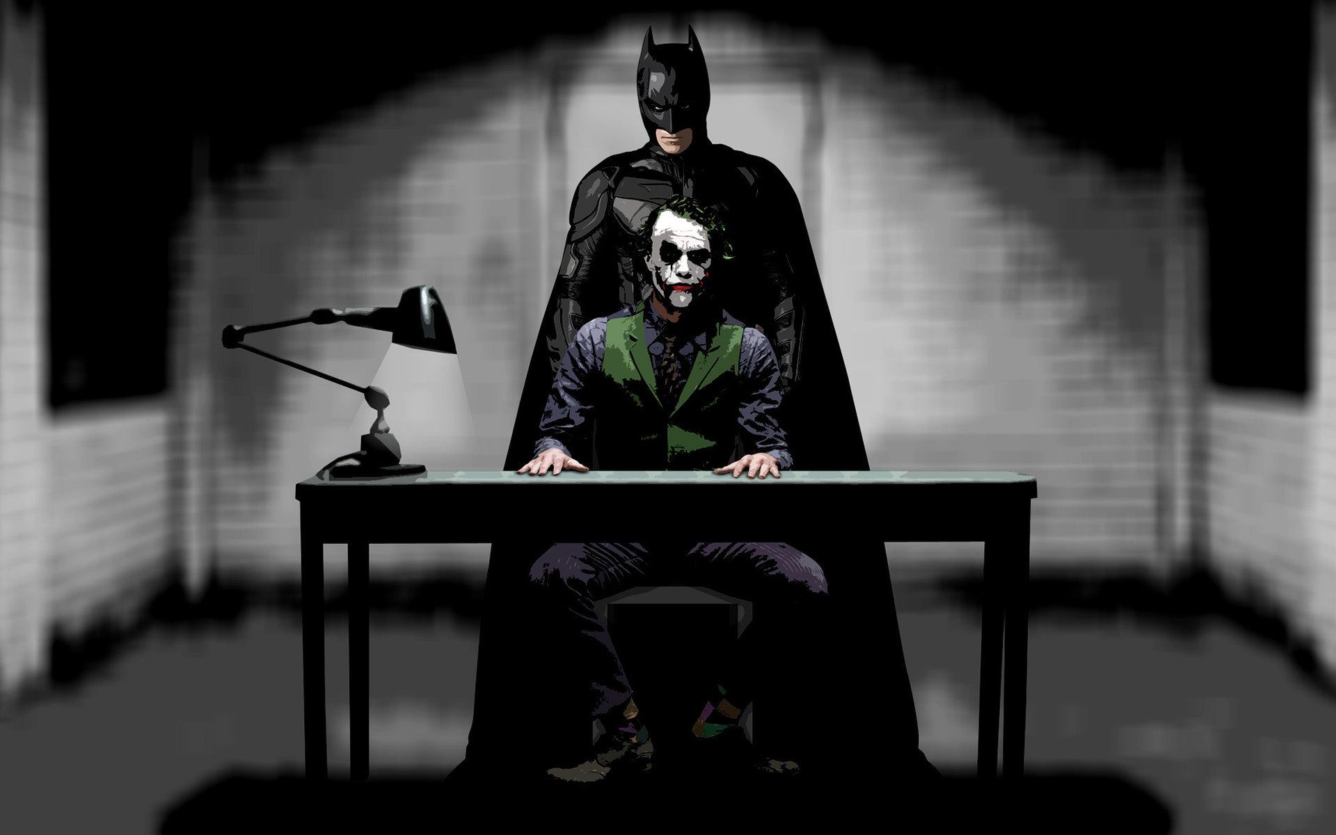 Бэтмен, темный рыцарь, джокер