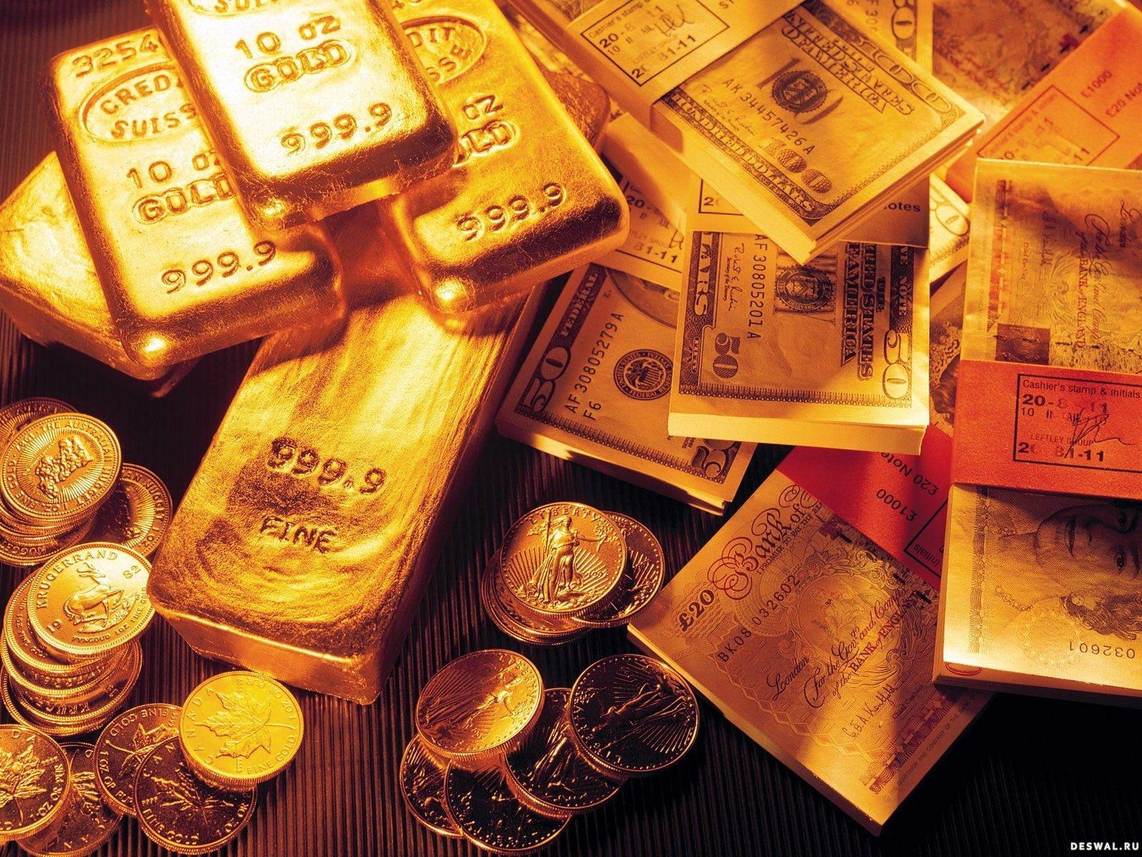 Монеты, слитки, деньги