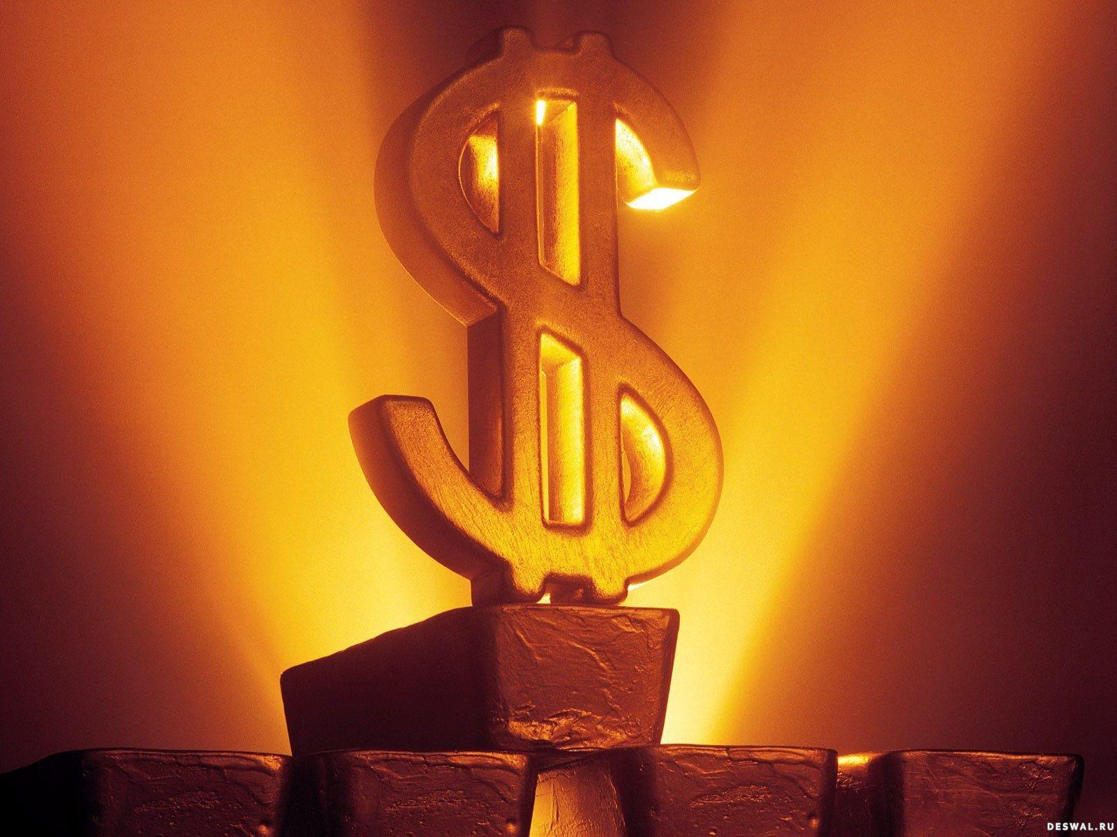 Светящийся доллар из золота