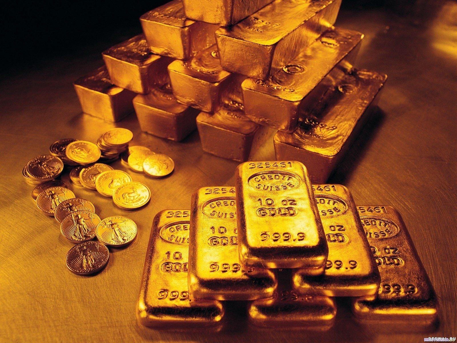 Gold слитки и монеты