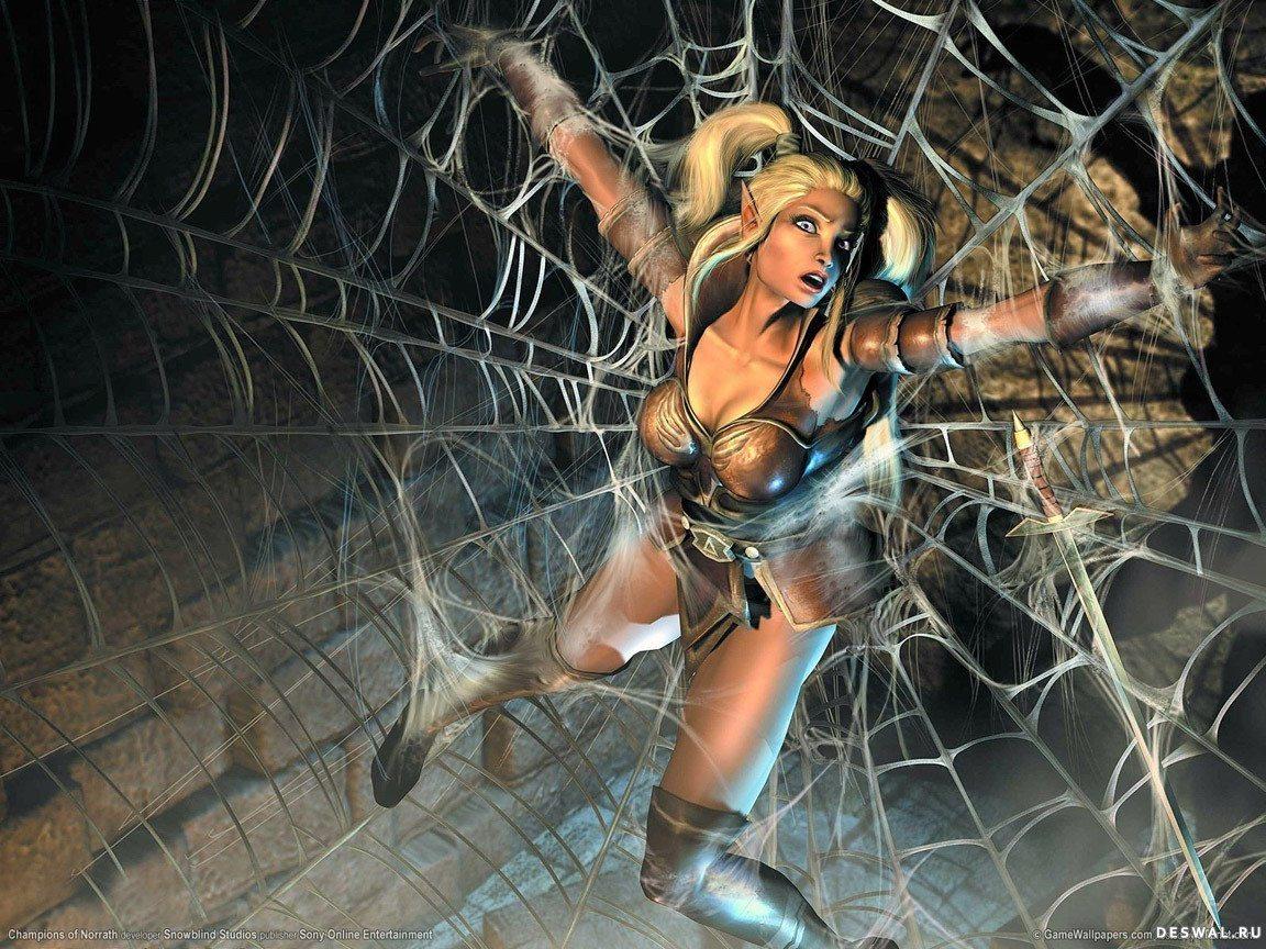 Фото девушка в паутине, Фото: Девушка, которая застряла в паутине Кадр из 3 фотография