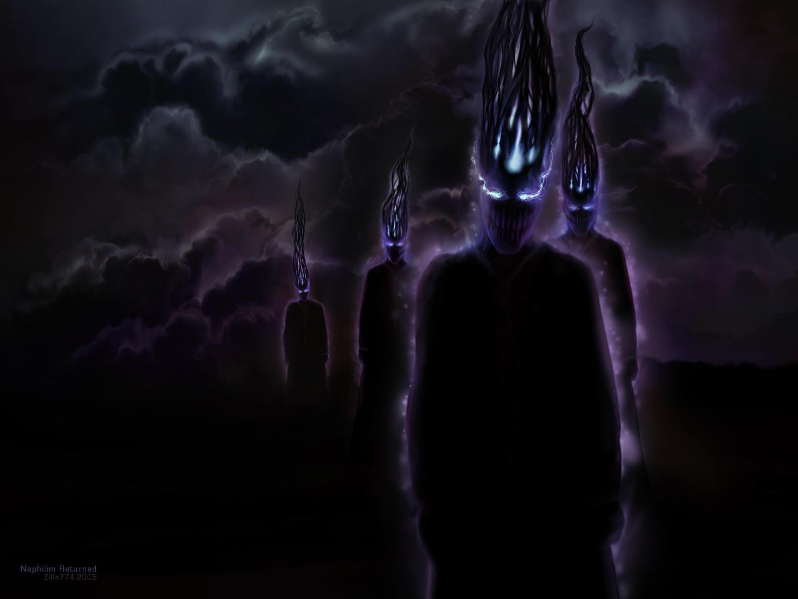 Тёмные призраки из темноты
