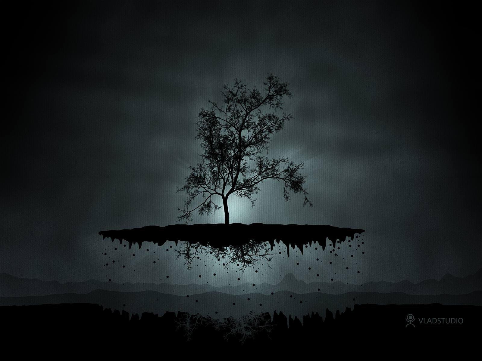 Летающий островок с деревом