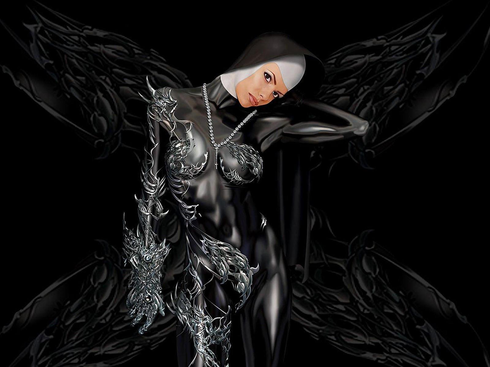 Черно белые фото монахини 18 фотография