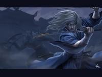 Воин с мечом в сражении