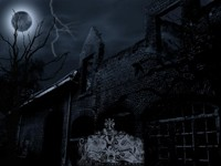 Развалины дома ночью