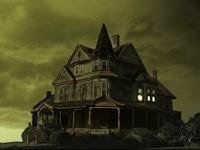 Темный одинокий и мрачный дом