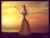 Девушка с маленькими крыльями