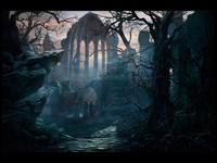 Ночные странники на развалинах