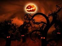 Хэллоуин, тыква вместо луны