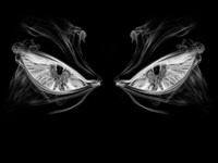 Фэнтезийные темные глаза