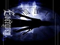 Циферблат часов с силуетом человека