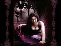 Вампирша с вороном