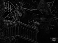 Тёмный арт дракула на балконе