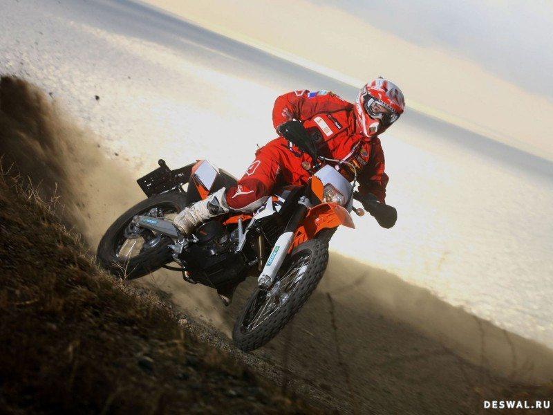 Изображение мотоцикла KTM на фотообои. Нажмите на картинку с обоями мотоцикла ktm, чтобы просмотреть ее в реальном размере