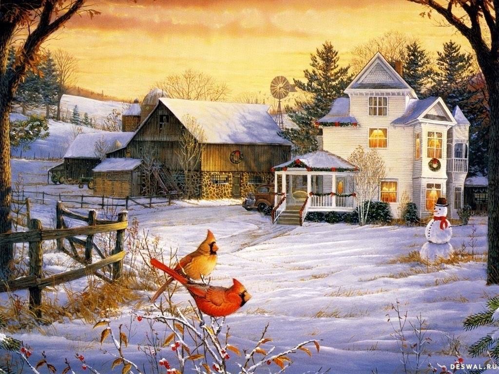 Деревня зимой нажмите на картинку с