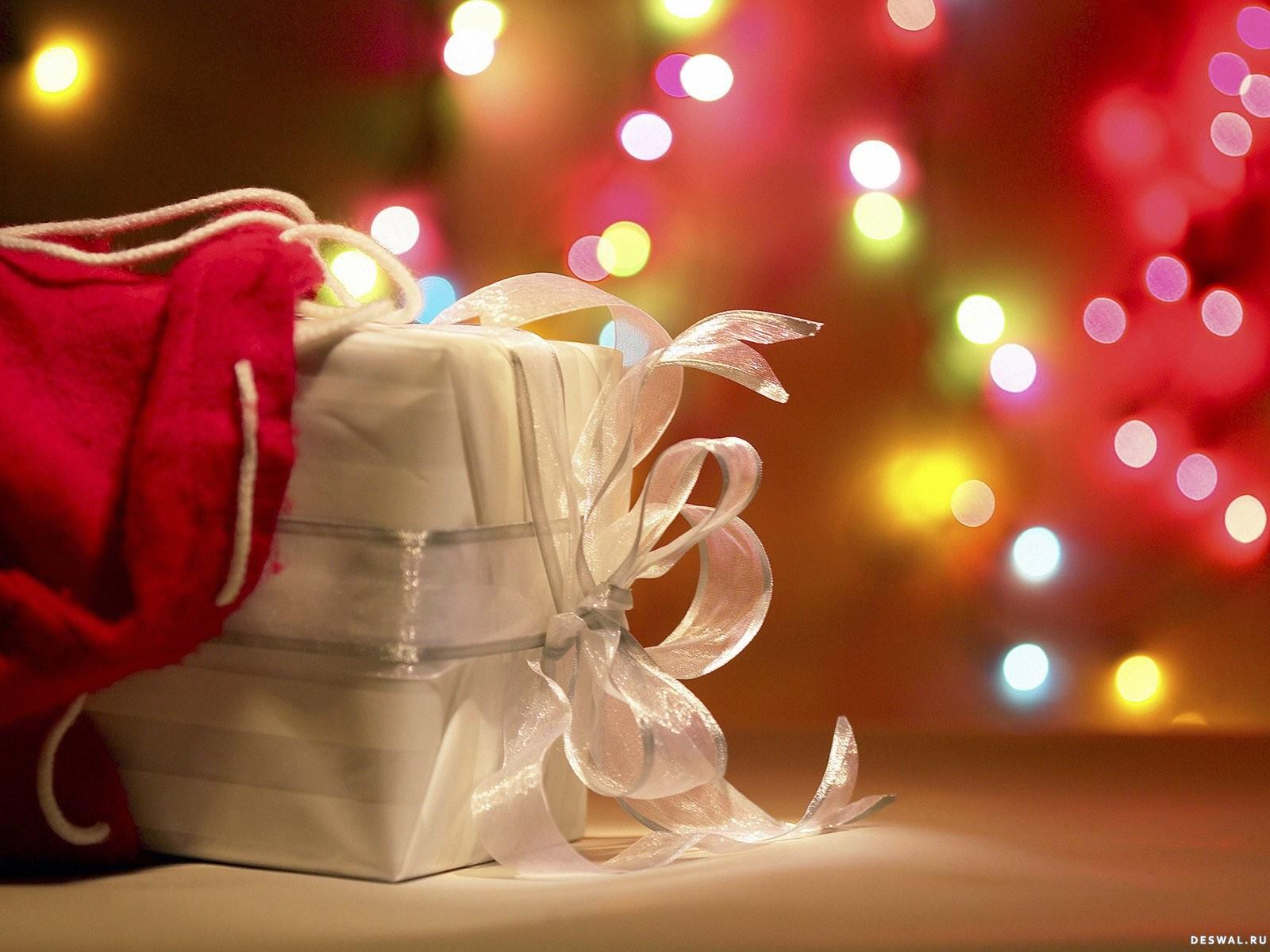 Новогодний подарок из мешочка