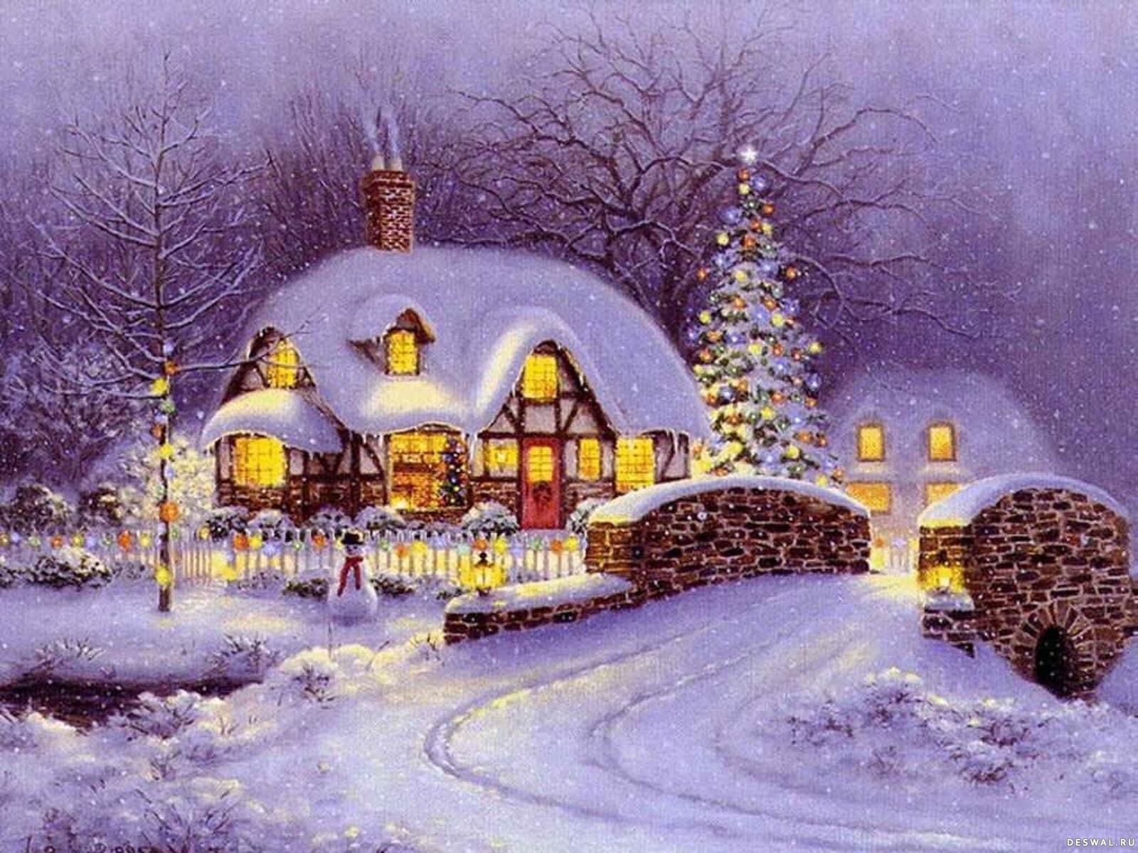 Домик новогодний