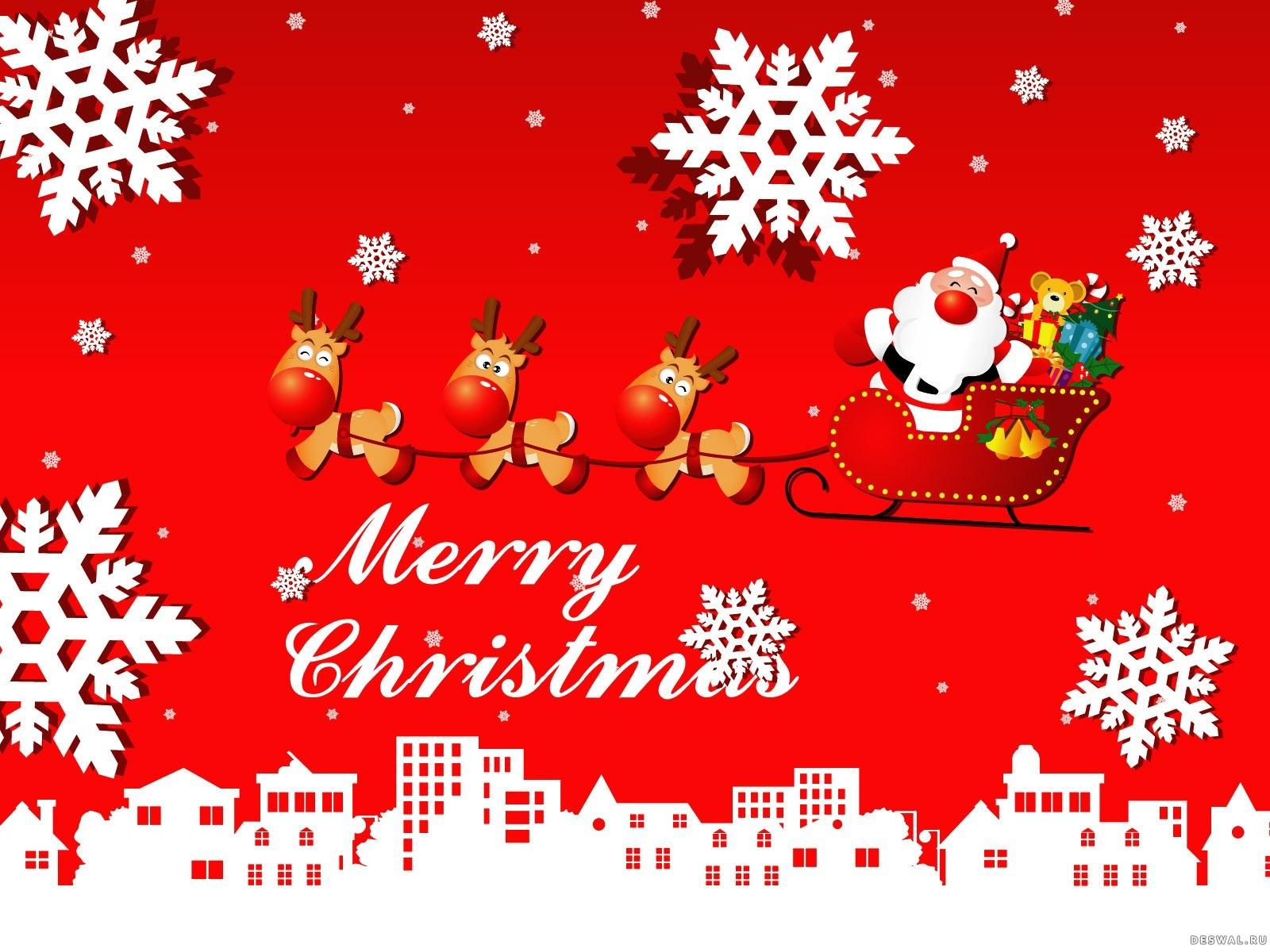 Открытка к рождеству по английский
