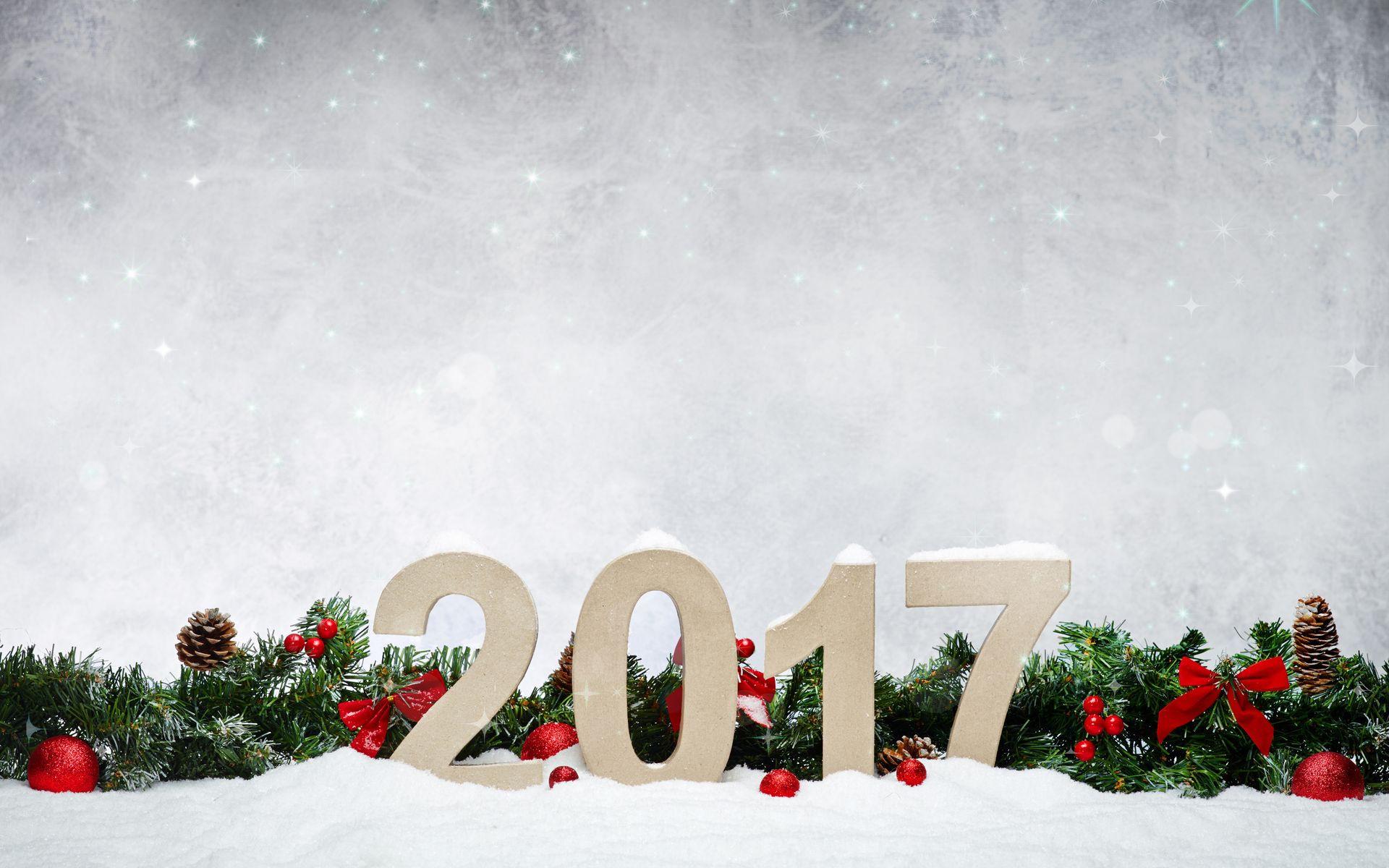 Новогодние украшения 2017 год