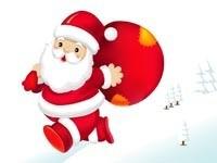 Бегущий Санта с мешком