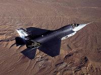 F-35 Lightning II  истребитель над пустыней